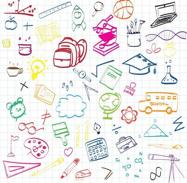 Diversos símbolos para representar o Dia Mundial da Educação