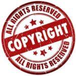 Carimbo com a descrição de copyright