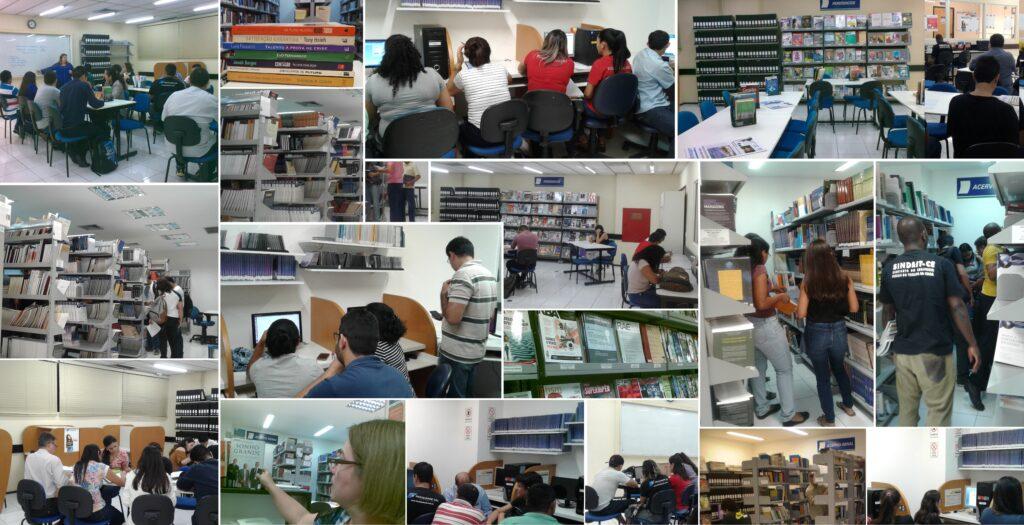 Movimento da biblioteca da Faculdade CDL para homenagear o Dia Mundial das Bibliotecas